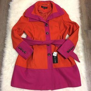Black Rivet Women SZ XL Orange Pink Jacket